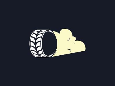 Drifting logo sketch drift club logo tire rims smoke drifting