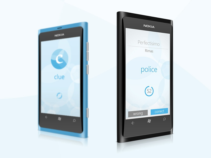 Clue windows phone ui ux clue blue wp wp8 metro