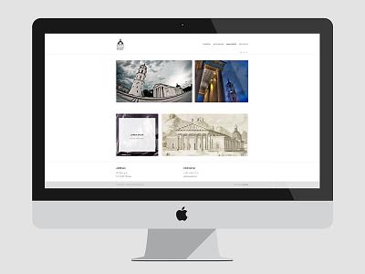 RIST minimal white architecture webdesign web design