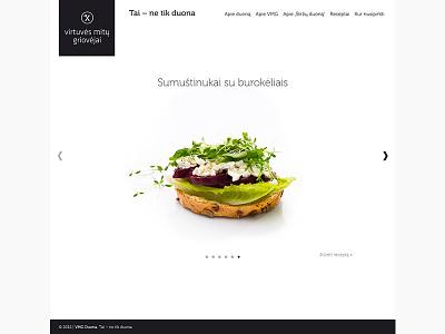 VMG Duona bread website web minimal white slider lithuania vmg recepies
