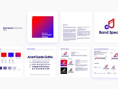 Band Speak Brand ✨ cards typography tchat speak band gradient brand chat logo music