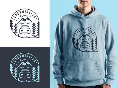Lepermislibre - Logo 🚙 car mark illustration clothing bleu fashion identity logodesign tee shirt logo lepermislibre typography branding fatma aroua