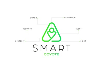 Logo Smart Coyote alerts coach navigation bar alert easy light seatbelt security navigation car green logo fatma aroua
