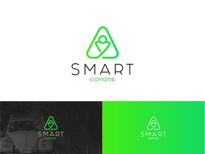 Logo Smart Coyote alerts coach navigation bar alert easy light seatbelt security navigation car green logo fatma aroua