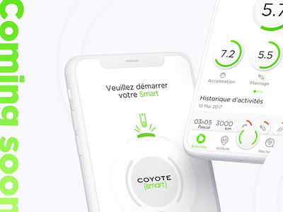 Coming Soon... 💚 ux dashboard app stats chart comingsoon alerts security coach app green logo gradient ui ui ux green app fatma aroua