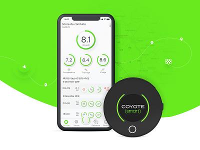 S M A R T 💚 apps history activity maps car uiux design dashboard app product fatma aroua