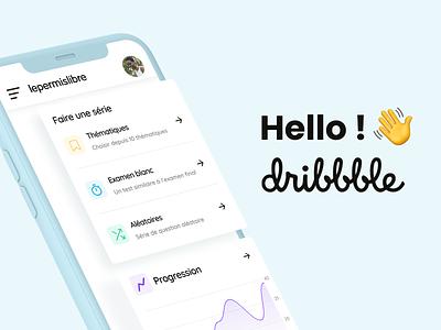 Hello Dribbble ! 👋 branding dashboard app uxui apps hellodribbble lepermislibre