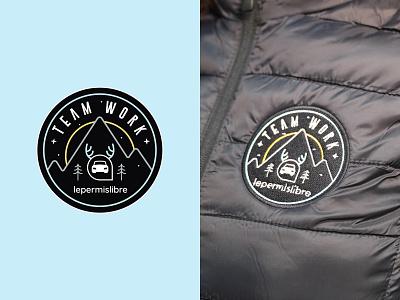 Christmas Sticker ❄️ typography illustration vector logodesign fashion brading clothing car mark logo jackets teamwork lepermislibre christmas sticker