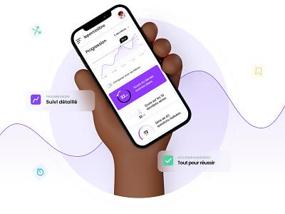 Dashboard 💜 dashboard app mockup mobile app ui graphic uxuidesign dashboard lepermislibre