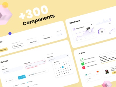 DESIGN SYSTEM 💛 search bar input dashboard ui chart colors buttons designsystem lepermislibre