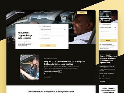 Interface Lepermislibre Pro 🖤 responsive responsive website landingpage drivingschool uiux interface automobile lepermislibre productdesign webdesign website