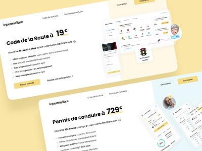 Lepermislibre ● Web Header website drivingschool automobile offer headers lepermislibre responsive productdesign webdesign uxui