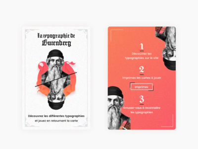 Card game, Typography Gutenberg ui css printweb sketch gradient game cards gutenberg typo