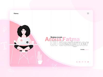 M Y   P O R T F O L I O   🚀🚀 !! ux pink fatma aroua portfolio