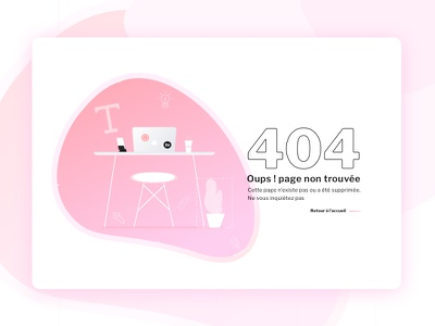 Portfolio 404 notfound 404 ux pink fatma aroua portfolio