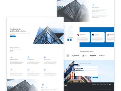 Landig page - Website web site service user experience design ui design landing page website web clean