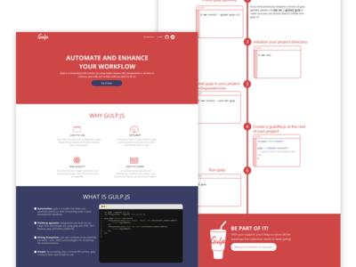 Gulp - Website redesign redesign gulp web ux ui site page landing interface flat design