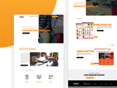October Studio Website user interface website ux ui