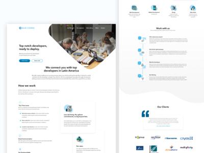 Blue coding website website
