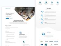 Blue coding website