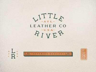 Little River typogaphy logo branding design leather