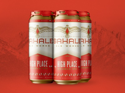 Sahale 4 pack falcon mountain ale branding packaging beer