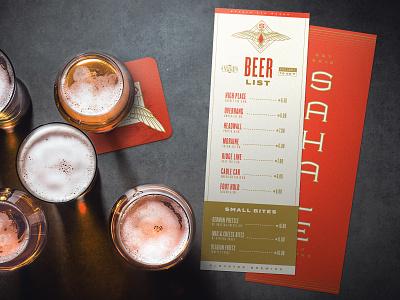 Sahale Beer List branding design ale branding beer brewery menu