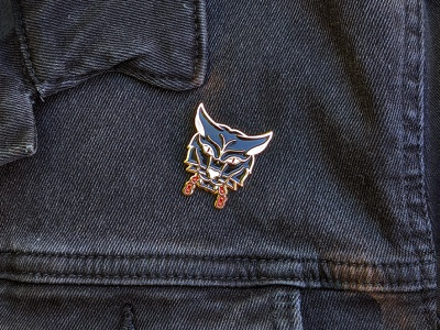 Panther Pin motorcycle cat panther enamel pin enamel pin