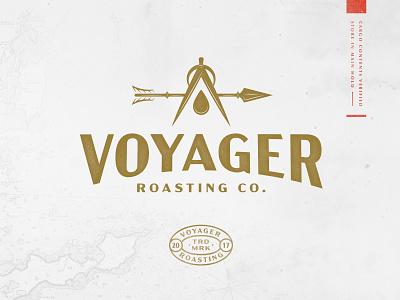 Voyager Roasting Co. roasters coffee sailing branding branding design logo