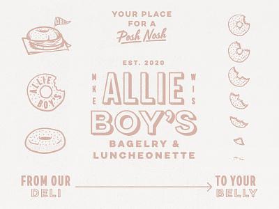 Allie Boy's Family bagels deli bagel branding design branding