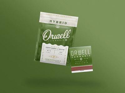 Orwell packaging cannabis packaging cannabis branding cannabis