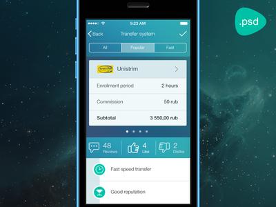 Money transfer App [PSD]