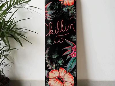 Skate painting art design pattern hawaii illustrations skate painting markers
