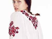 Floral Geometric Embroidery