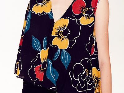 Floral Prints botanic digital seamless pattern textile drawing graphic design vector floral flowers pattern illustration