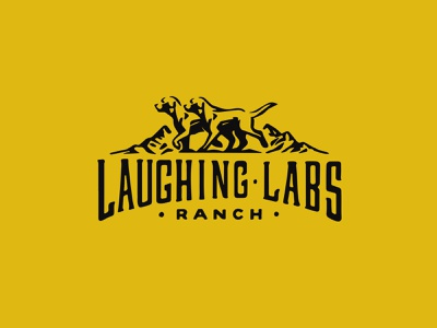 Laughing Labs Ranch icon typography vector branding logo design illustration flat
