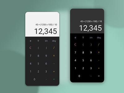Daily UI #004 Calculator interface androiud apple ios app design app uxui uidesign ui
