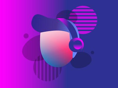 Gradient Characters freelance designer argentina vector retrofuture purple futurism illustration gradient