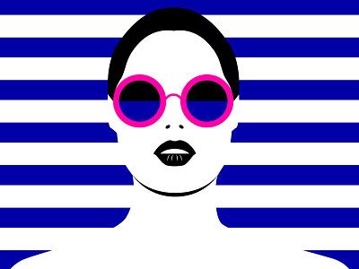 Summer is coming femenine women fashion stripes colorful art high contrast summer