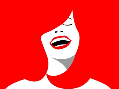 Redhead editorial illustration smile women empowerment women red and white vogue buenos aires argentina red fashion illustration fashion high contrast woman girl redhead