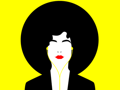 Music vibes high contrast buenos aires argentina iphone hat yellow fashion illustration fashion vogue woman illustration girl
