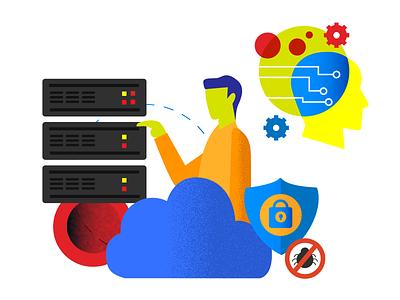 Cloud Computing Expert ecommerce hackathon editorial cloud computing illustration buenos aires argentina finance financial