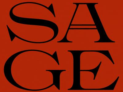 Sage (New Font) design type typography