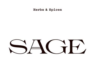 Sage type design typography