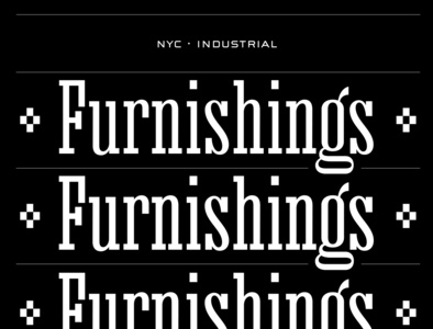 Furnishings design type design type typography