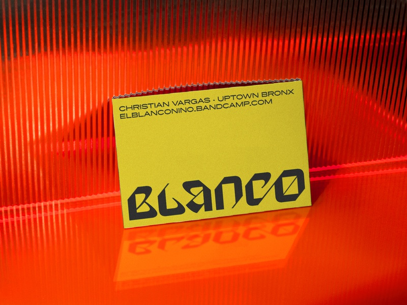 BLANCO lettering businesscard lockup typography design branding