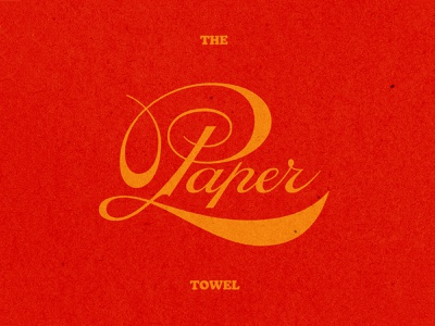 The Paper Towel typography badge logo script lettering fonts
