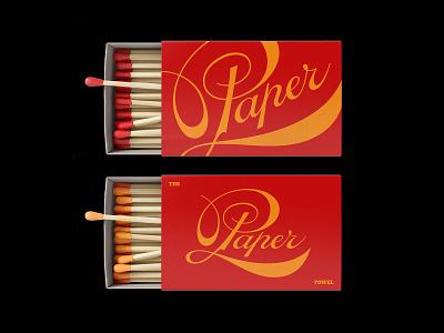The Paper Towel label logo design typography type lettering art branding