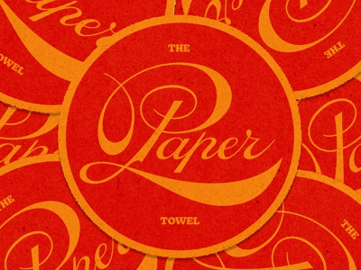 The Paper Towel Coasters logo label lettering design branding typography