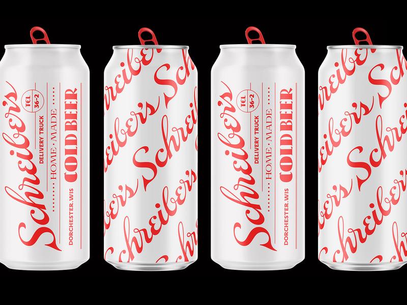 Schreiber's Beer Cans typography beer logo packaging lettering
